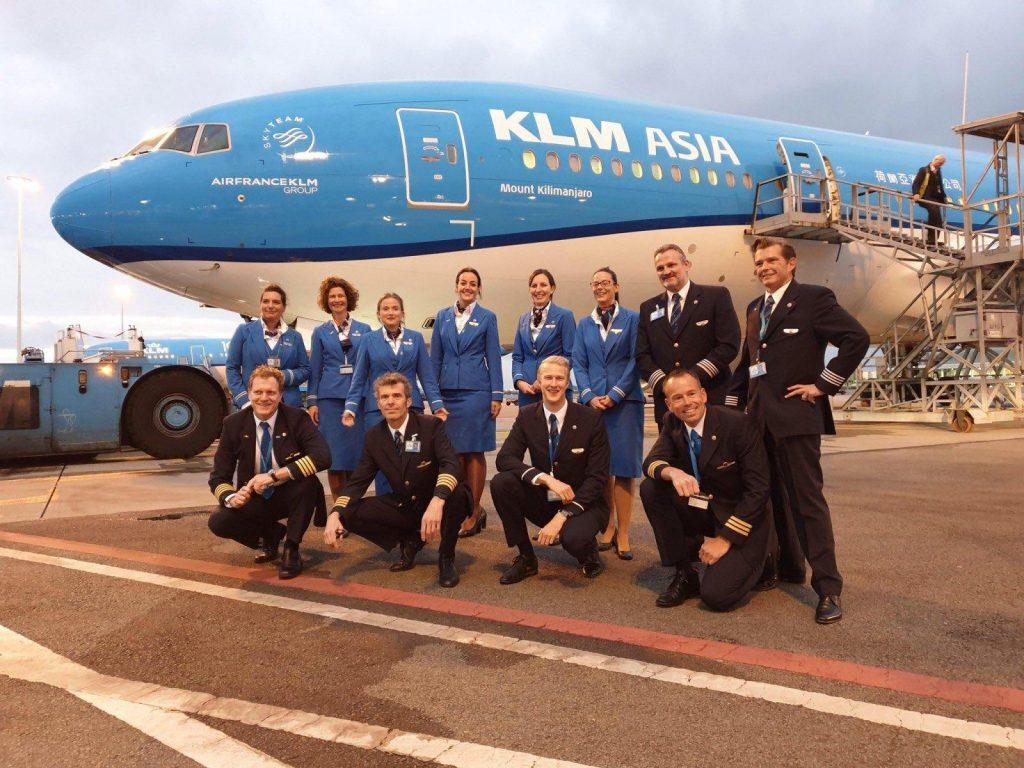 KLM zboara in Australia